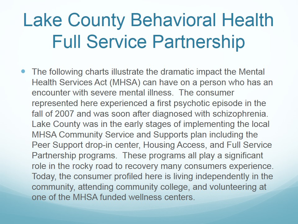 Lake County's Full Service Partnership